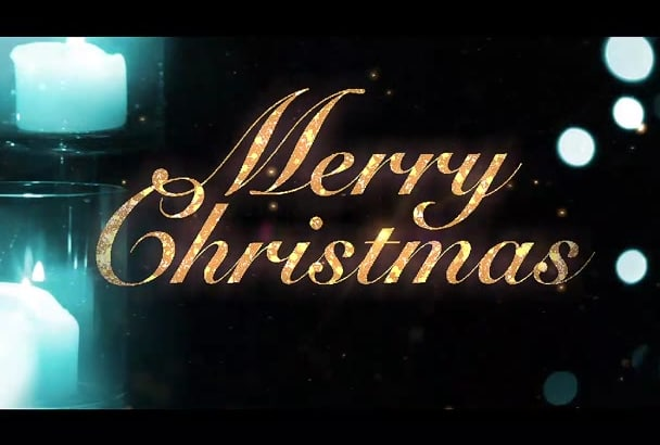 do animated Christmas greeting message