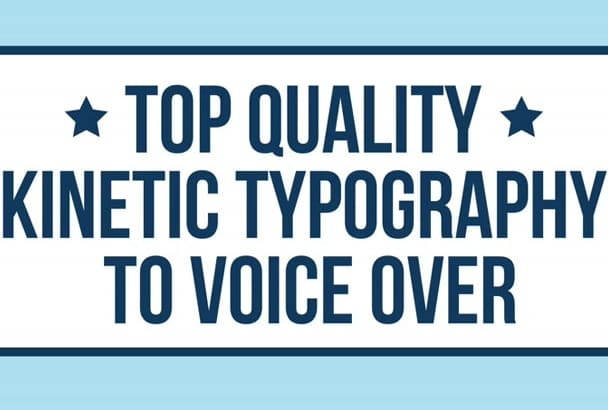 do a kinetic typography to voice over animation