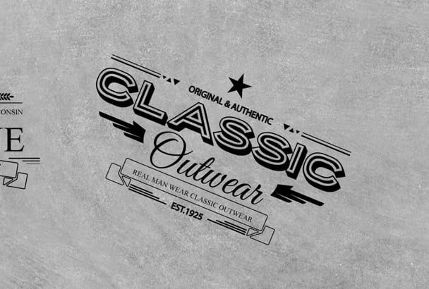 do awesome VINTAGE retro or badge logo for you