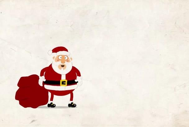 put your logo on this christmas animation