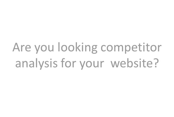 find competitor and analysis for your profitable website