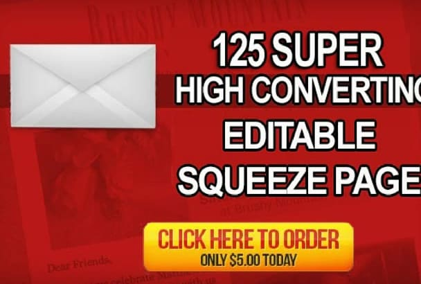 give 125 High Converting Landing Page Template