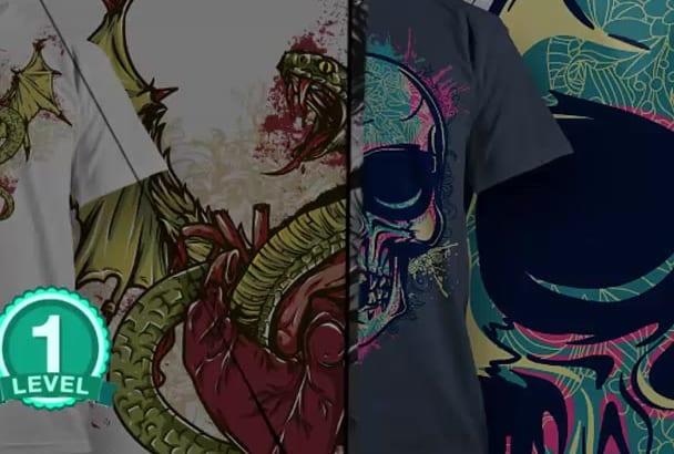 tshirt design professionally with creative ideas