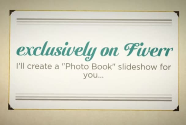 create a Vintage Keepsake Photo Book Slideshow Presentation
