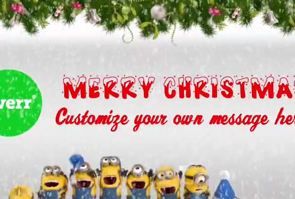 make minions sing christmas song with your logo or image