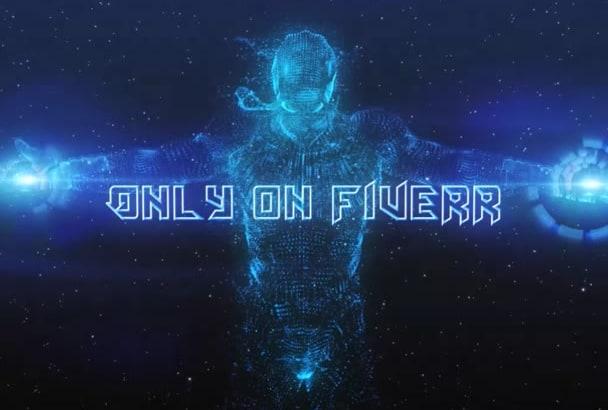 make Ironman Hologram scifi INTRO