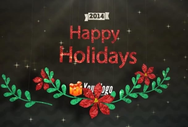 create 5 Christmas and New year video greetings