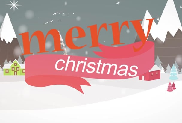 make Christmas greeting  video animation