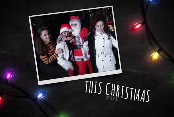 make this Christmas light slideshow