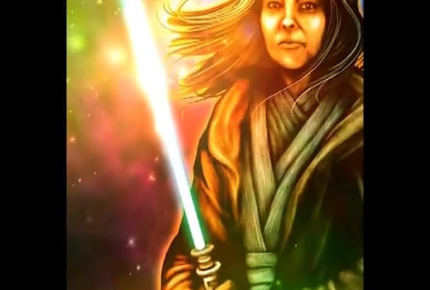 draw you as a Star Wars style character