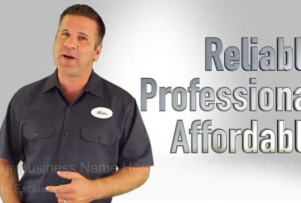 produce a Professional Video for Local Plumbers