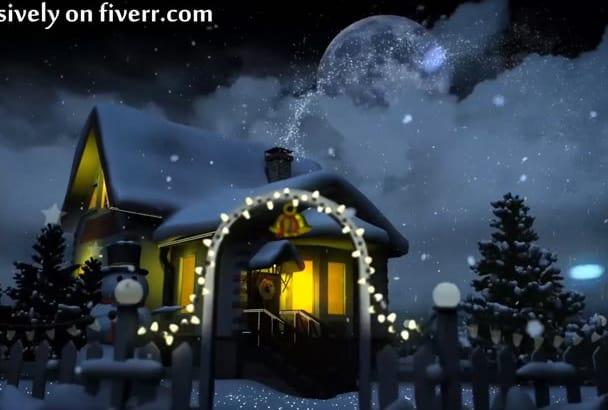 make a Christmas tree greetings animation