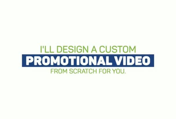 animate custom promo video in flat design