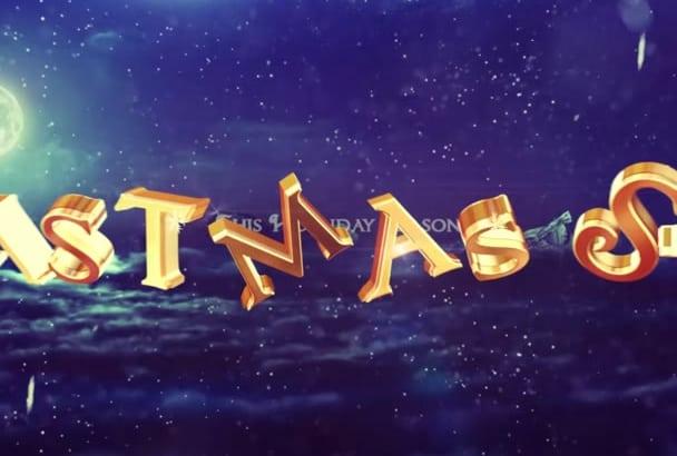 make this Christmas Video Greeting Video