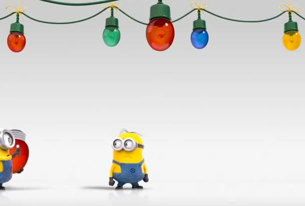create a HD Christmas Minions video with your logo or text