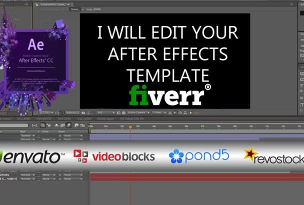 edit your after effects templates
