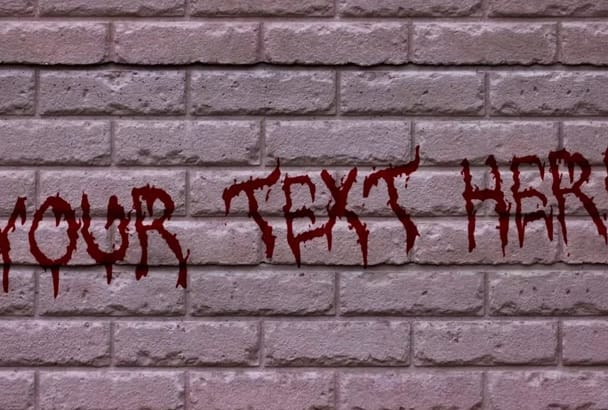 create a Wall Horror Blood Text Video Intro