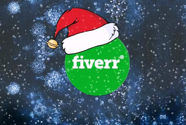 put a Christmas hat on your logo with a Snow falling effect Image and Video