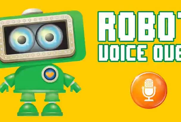 create a ROBOT voice over of your script, 6 voices, optional music