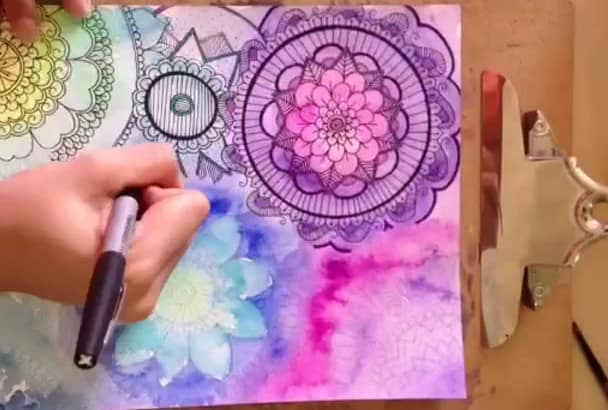 paint a custom watercolor illustration
