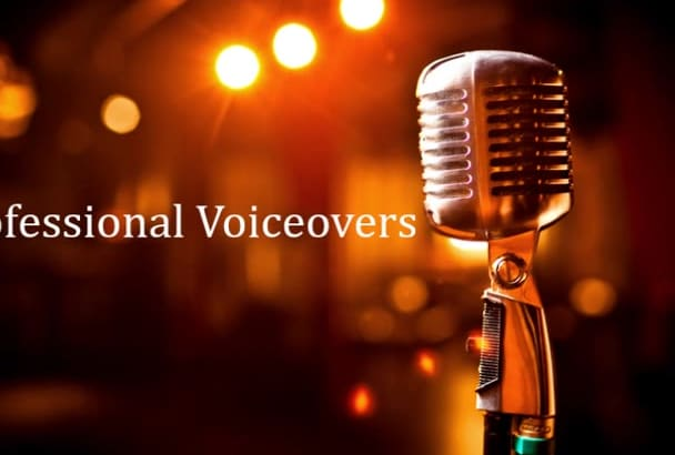 do a professional female voiceover