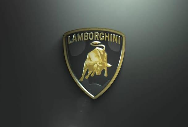 create classic lambo type logo animation