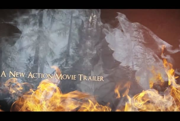 customize this Burn Hell FIRE Action Trailer Slideshow to Promote Book or Game