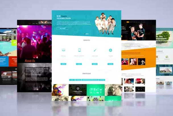 create professional and creative website