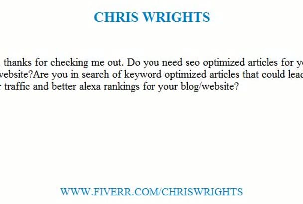 research and write SEO articles and web content