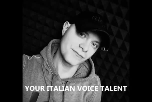 your best italian voice talent