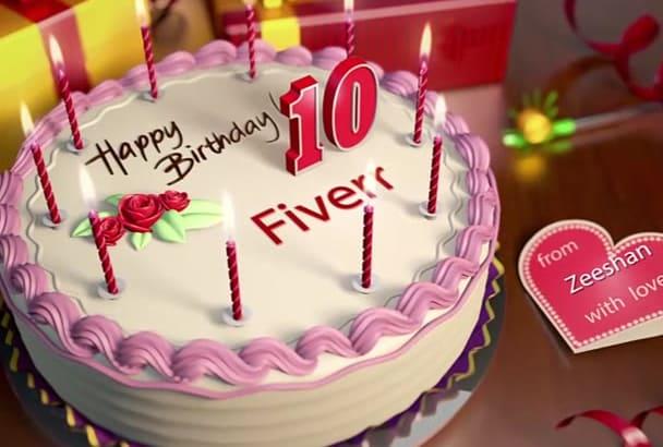 make birthday wishing   video in HD