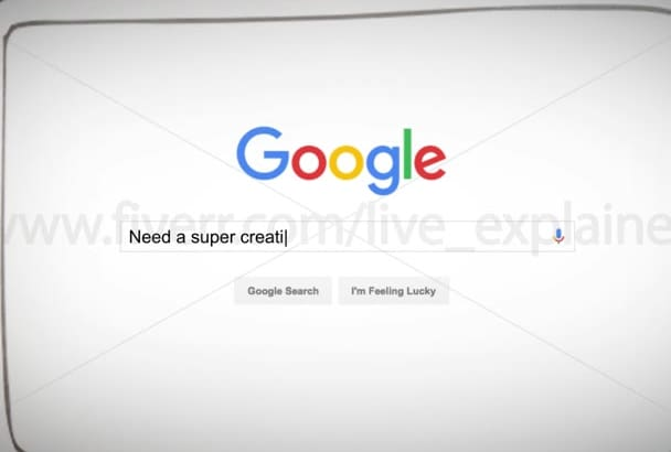 make this LIVE Google search animation promo video