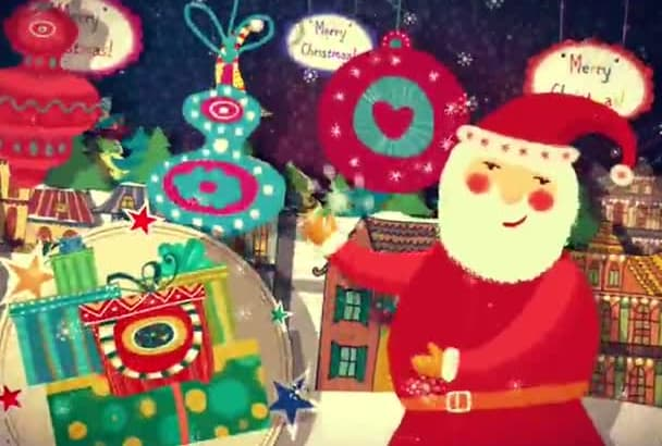 create Beautiful Christmas and New Year Video Greeting