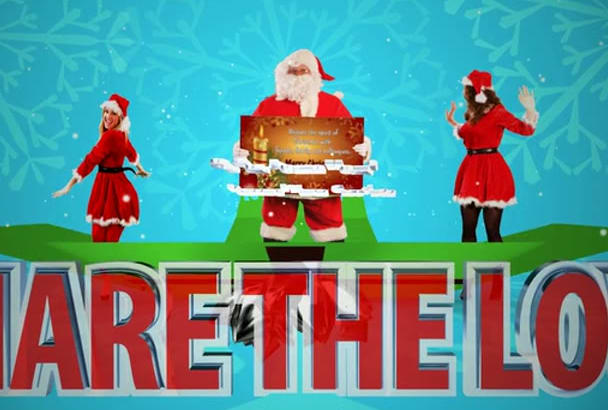 create a special 3D Xmas Greeting video for you