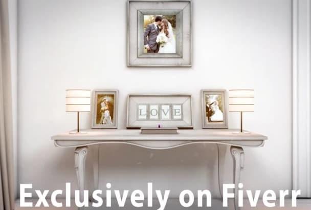 create beautiful wedding invitation video