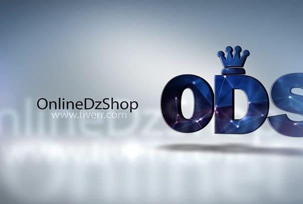make a 3D logo identification video