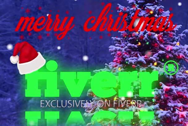 create Christmas logo animation