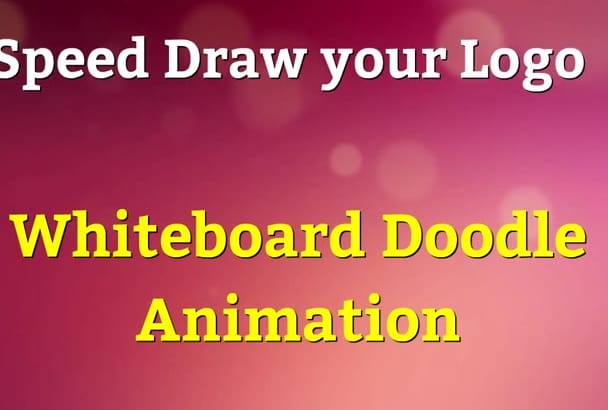 speed draw your logo WHITEBOARD style