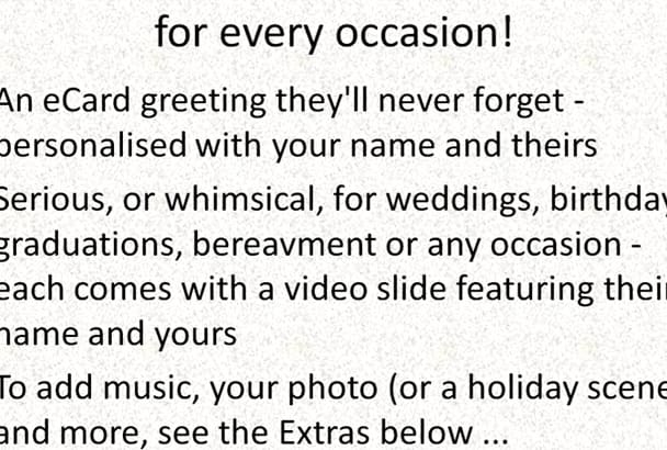 create a personalised audiovisual greeting card