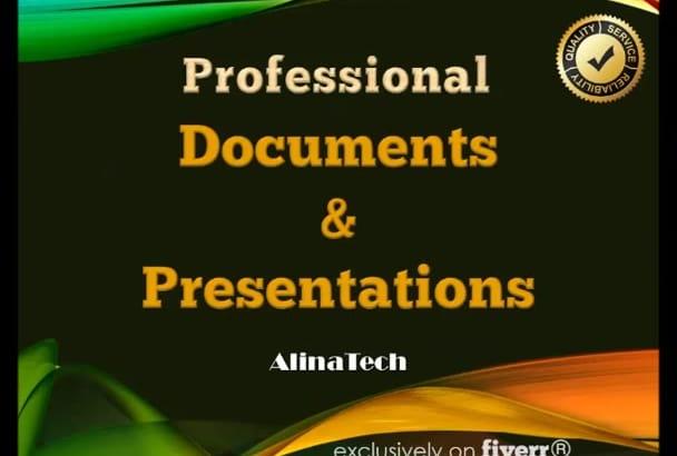 design a professional presentation or brochure