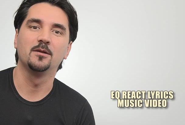 create EQ react visualization lyrics music video