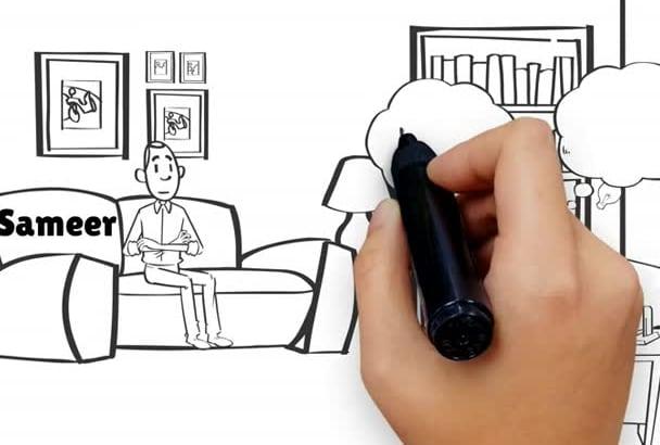 create whiteboard animation video