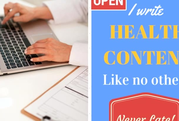 write An ENGAGING 500 Word Health Article