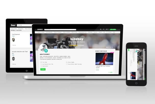 create Animated website promo
