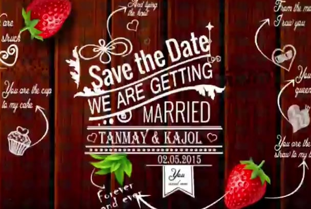 create an alluring save the date video