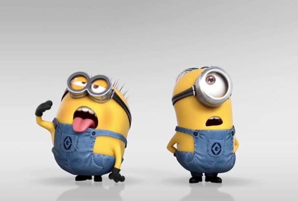 add your logo in funny minion video