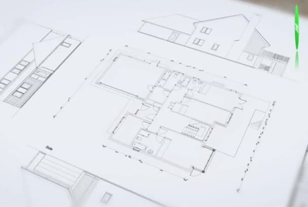 model your floor plan into 3D