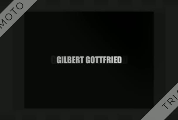 record your message as Gilbert Gottfried