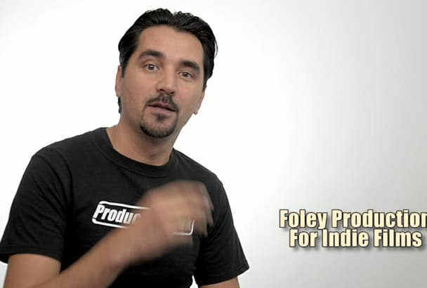 do foley for your indie film