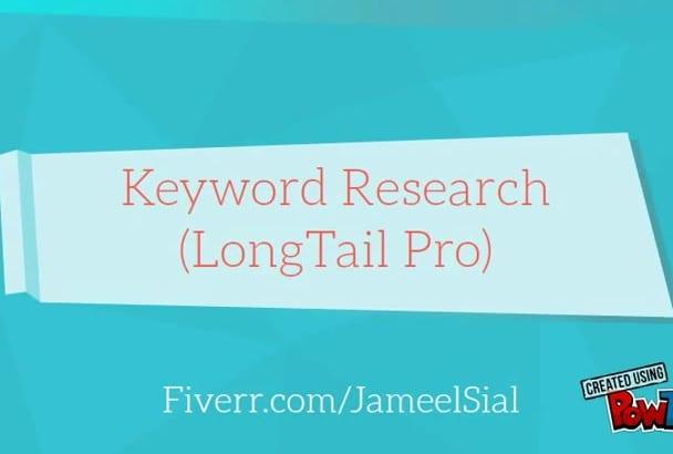 keyword Research Like pro TOP 7 keywrd